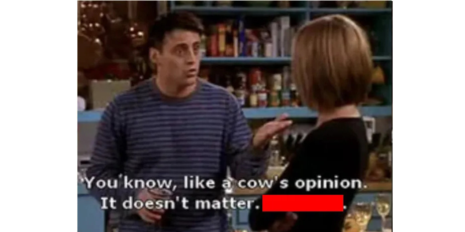 A cow's opinion